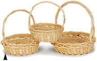 Set of 3 Round Willow Baskets 1