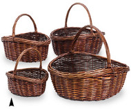 Set of 4 Stained Willow Germania Baskets