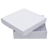 Jewelry Earring or Pin Box - White