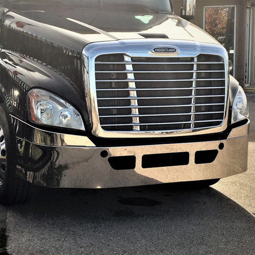 Freightliner Bumper Accessories : Freightliner bumper cascadia with factory chrome