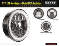 "5.75"" LED Headlights – Model 8630 Evolution with daytime running light (0549911)"