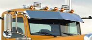 """PETERBILT VISOR 12"""" FITS 1987+ FLAT TOP MODELS 325,330,335,337,340,347,348,357,365,367,375,377,378,379,382,384,385,386,388,389 (A731001)"""
