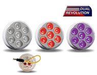 "2"" Dual Revolution LED - Red / Purple"