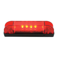 """Rectangular 4"""" Thin Line Marker / Clearance LED - Red"""