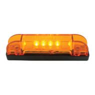 "Rectangular 4"" Thin Line Marker / Clearance LED - Amber"