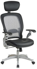 Platinum Finish Air Grid Chair with Headrest [36806] -1