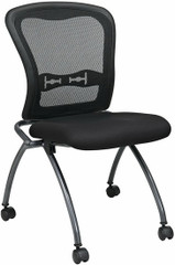 Office Star Armless Folding Mesh Chairs [84220] -1