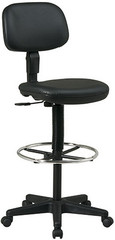 Office Star Black Vinyl Drafting Chair [DC517V] -1