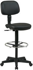 Office Star Black Vinyl Drafting Chair [DC517V] -1