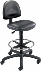 Safco Precision Armless Vinyl Drafting Chair [3406] -1