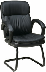 Sled Base Eco Leather Office Side Chair [EC9235] -1