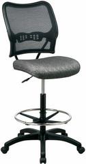 Air Grid Mesh Drafting Chair with Fabric Seat [13-7N20D] -1