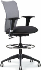 All Seating Inertia Mesh Drafting Stool [78019] -1