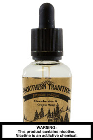 Southern Tradition e-Liquid:  Strawberries and Cream 30ml