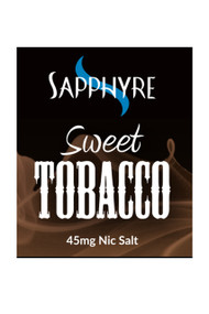Sapphyre sweet tobacco nic salt e-liquid- 25mg