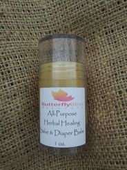I call this an All-Purpose product because it is AMAZING, and truly is for anything. It's a diaper balm, a healing salve for itchy skin, for bug bites, poison oak, rashes, or infected skin. It's Anti-Inflammatory, Anti-Bacterial, Anti-Fungal reduces swelling and promotes healing.  Posted in the pictures is a testimonial from someone who skinned their nose very badly and used only the healing balm to promote healing. Those were picture at the beginning, middle, and near the end of her progress over a 2 week period.  It has the consistency of vasoline, and works better than neosporin. It comes in a 1 oz push tube container. It can be applied directly on the skin, by putting a little on your fingers, or using a q-tip.  Ingredients: Sweet Almond Oil Infused with (Organic Comfrey Leaf, Organic Plantain Leaf, Organic Yarrow Root, Organic Calendula Flowers, Organic Chamomile Flowers, Lavender Buds), Beeswax, Organic Arrowroot Powder, Organic Coconut Oil, Shea Butter, Grapefruit Seed Extract, Orange-Lavender & Roman Chamomile Essential Oils, Tea Tree Oil
