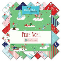 Riley Blake Fabric - Pixie Noel - Tasha Noel - Fat Eighth Bundle
