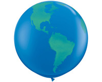 Round Jumbo World Globe Balloon (90cm)