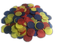 1/2 Cup Tissue Paper Confetti - Red, Blue and Yellow - 1 inch Circles