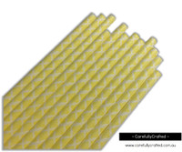 25 Paper Straws - Yellow Demask - #PS6