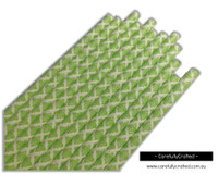 25 Paper Straws - Lime Green Demask - #PS7