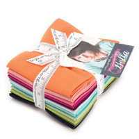 Moda Fabric Precuts - Fat Quarter Bundle - Designer Select Bella Colours - V Co