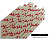 25 Paper Straws - Dark Red Bunting - #PS12
