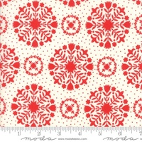 Moda Fabric - Handmade - Bonnie & Camille - Red Cream #55141-11