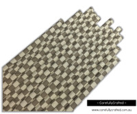 25 Paper Straws - Grey Checkerboard - #PS18