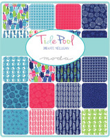 Moda Fabric Precuts Jelly Roll - Tide Pool by Kate Nelligan