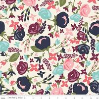 Riley Blake Fabric - Posy Garden - Carina Gardner - Cream #C5420