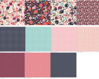 Riley Blake Fabric - Fat Quarter Bundle - Posy Garden - Carina Gardner -