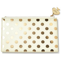Kate Spade NY pencil pouch - gold dots