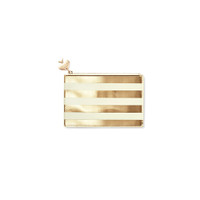 Kate Spade NY pencil pouch - Gold Stripe
