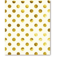 Kate Spade NY Spiral Notebook Gold Dots