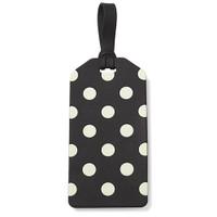 Kate Spade NY luggage tag - dot black and cream