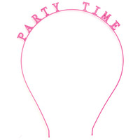 Girl Talk Headband Party Time