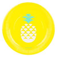 Paper Plate 12 Set - Pineapple