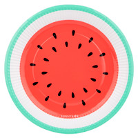 Paper Plate 12 Set - Watermelon