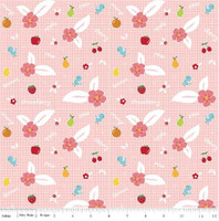 Riley Blake Fabric - Sweet Orchard Sedef Imer of Down Grapevine Lane - Pink #C5481