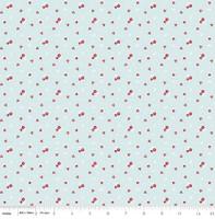 Riley Blake Fabric - Sweet Orchard Sedef Imer of Down Grapevine Lane - Aqua #C5483