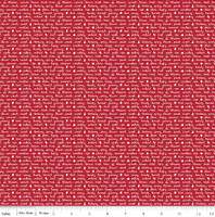 Riley Blake Fabric - Sweet Orchard Sedef Imer of Down Grapevine Lane - Red #C5484