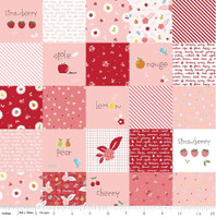 Riley Blake Fabric - Sweet Orchard Sedef Imer of Down Grapevine Lane - Pink #DC5480