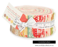 Moda Fabric Precuts Jelly Roll - Strawberry Fields Revisited by Fig Tree Quilts