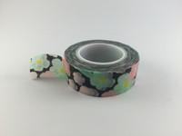 Washi Tape - Floral on Black #939