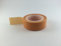 Washi Tape - Small Polka Dots on Orange #945