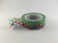 Washi Tape - Aqua, Green, Blue & Pink Triangles #952