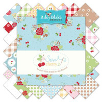 Riley Blake Fabric - Sew Cherry 2 - Lori Holt - 10 inch Stacker