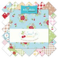 Riley Blake Fabric - Sew Cherry 2 - Lori Holt - 5 inch Stacker