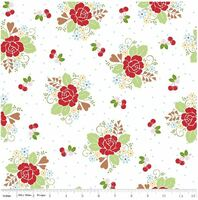 Riley Blake Fabric - Sew Cherry 2 - Lori Holt - White #C5800